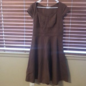 eshakti Dresses - Camel a line gorgeous dress